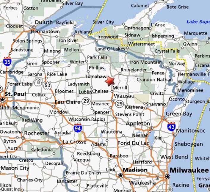Tomahawk Wisconsin Map.Official Web Site Of The Annual Tomahawk Fall Ride